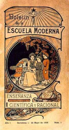 Die Zeitung der Escuela Moderna, einem anarchistischen Bildungsprojekt von Francisco Ferrer