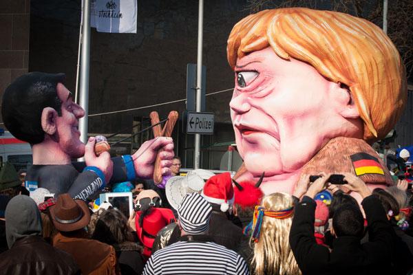Ob es Griechenland schafft, sich gegen den Zyklop Merkel durchsetzen kann? -  © Dirk Jürgensen - Düsseldorf